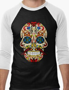 Mustache Skull Men's Baseball ¾ T-Shirt
