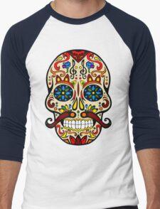 Mustache Skull Men's Baseball ¾ T-Shirt