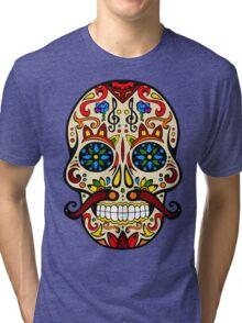Mustache Skull Tri-blend T-Shirt