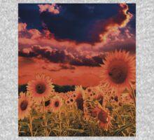 Sunflowers Field  One Piece - Long Sleeve