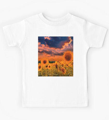 Sunflowers Field  Kids Tee