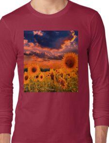 Sunflowers Field  Long Sleeve T-Shirt