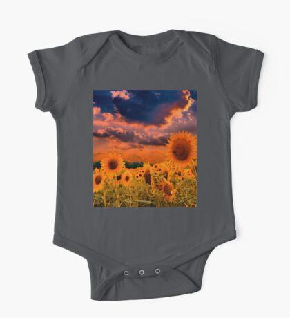 Sunflowers Field  One Piece - Short Sleeve