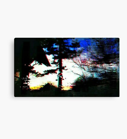 Digital Trees Canvas Print