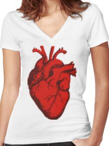 Got Heart?  Women's Fitted V-Neck T-Shirt