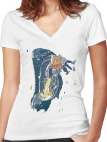Sea Cucumber Women's Fitted V-Neck T-Shirt