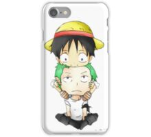 Luffy and zoro  iPhone Case/Skin