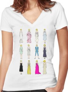 Outfits of Marilyn Fashion Women's Fitted V-Neck T-Shirt