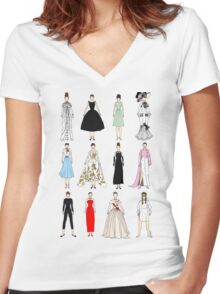 Outfits of Audrey Fashion Women's Fitted V-Neck T-Shirt