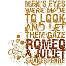 Romeo & Juliet Men Quote (Colour) by Sally McLean