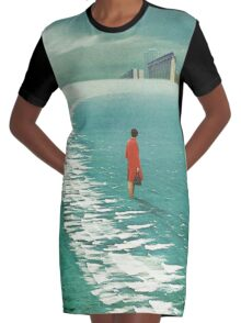 Waiting For The Cities To Fade Out Graphic T-Shirt Dress