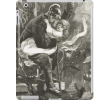 Victorian fireman rescuing a child iPad Case/Skin