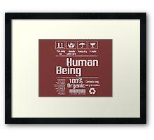 Human being (white version) Framed Print