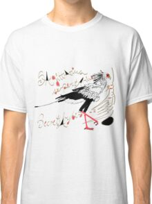 Secretarybird, Sagittarius serpentarius  Classic T-Shirt