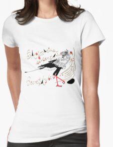 Secretarybird, Sagittarius serpentarius  Womens Fitted T-Shirt