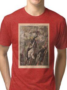 Firemen saving Miss Dudlay France 1900 Tri-blend T-Shirt