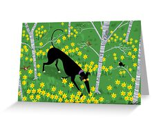 Daffodil Hound Greeting Card