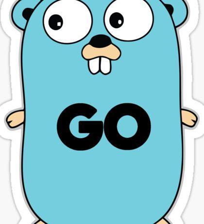 google go programming language Sticker