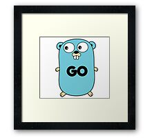 google go programming language Framed Print