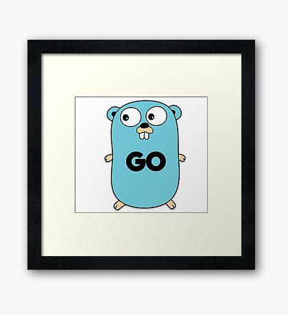 google go programming language Framed Print