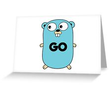 google go programming language Greeting Card
