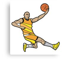 Basketball Player Illustration Canvas Print