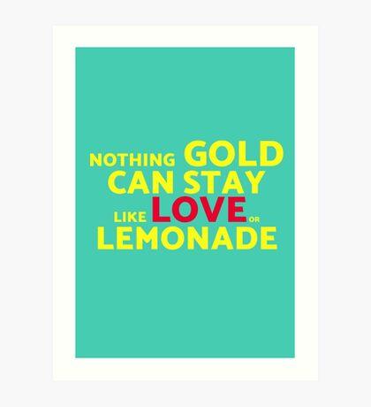 Love or Lemonade Art Print