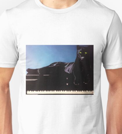 """BLACK PANTHER & HIS PIANO"" Unisex T-Shirt"