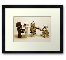 Lego Star Wars Stormtroopers Diversity Minifigure Framed Print