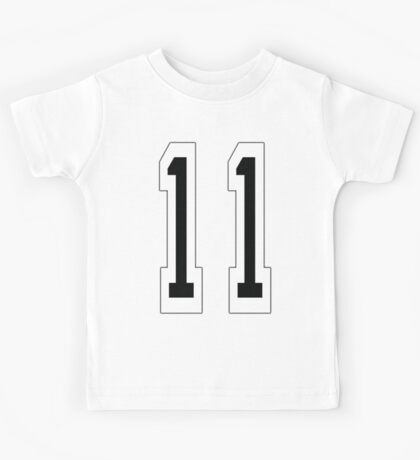 11, TEAM SPORTS NUMBER 11, Eleven, Eleventh, Competition Kids Tee