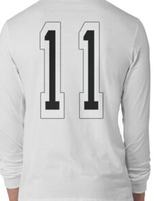 11, TEAM SPORTS NUMBER 11, Eleven, Eleventh, Competition Long Sleeve T-Shirt
