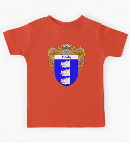Healy Coat of Arms/Family Crest Kids Tee