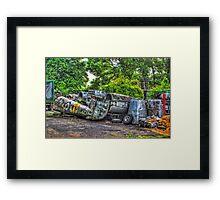 Fallen Meteor Framed Print