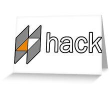 hack programming language sticker Greeting Card