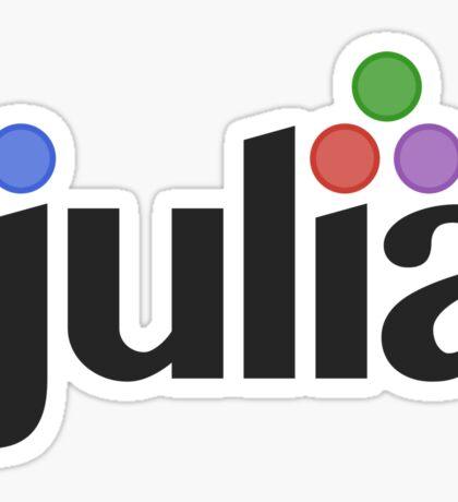 julia programming language sticker Sticker