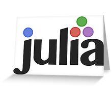 julia programming language sticker Greeting Card