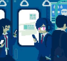 Rush Hour on the Tokyo Metro Sticker
