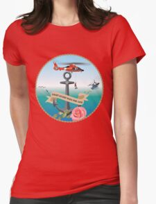 Coast Guard Wife For Life Womens Fitted T-Shirt