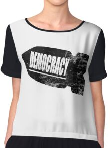 Democracy Bomb Chiffon Top