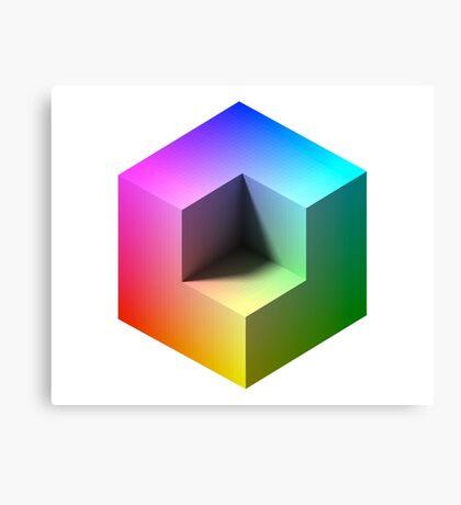 Hue Cube Canvas Print