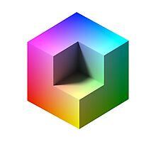 Hue Cube Photographic Print