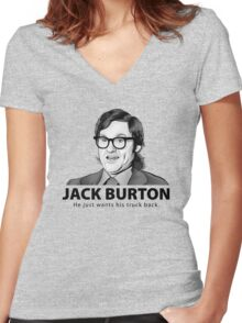 Jack Burton wants his truck back! Women's Fitted V-Neck T-Shirt