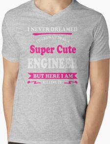 Super cute Engineer Mens V-Neck T-Shirt
