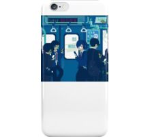 Rush Hour on the Tokyo Metro iPhone Case/Skin