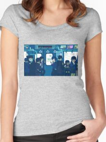 Rush Hour on the Tokyo Metro Women's Fitted Scoop T-Shirt