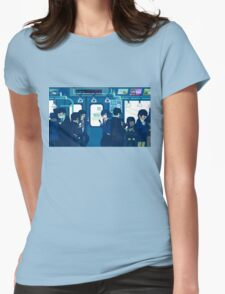 Rush Hour on the Tokyo Metro Womens Fitted T-Shirt