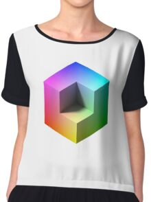 Hue Cube Chiffon Top
