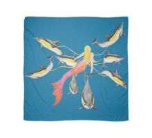 Mermaid with Common Dolphins / Meerjungfrau mit Gemeinen Delfinen Scarf