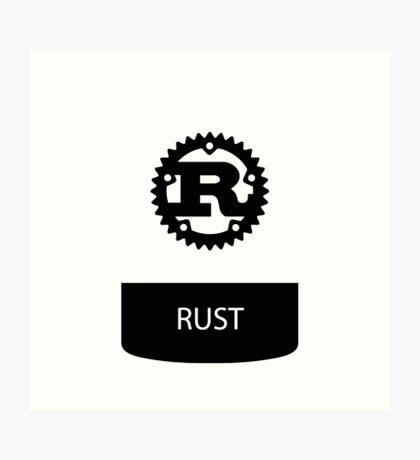 rust programming language sticker plus Art Print
