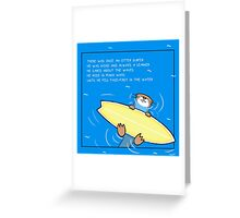 Ottersurfer Greeting Card